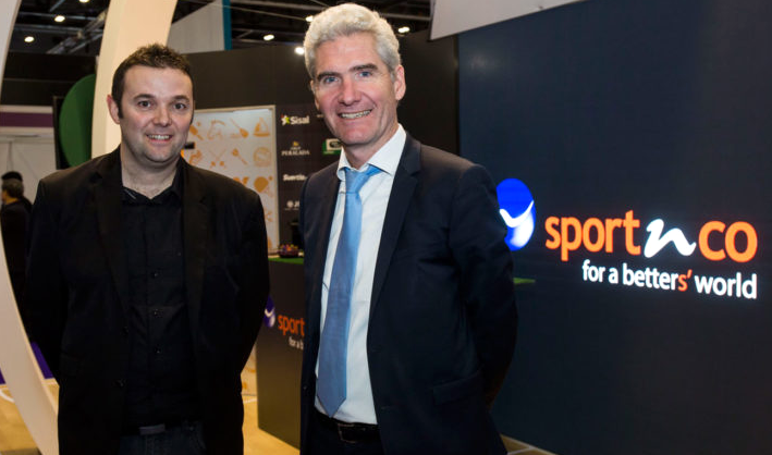 David Bonnefous (left) with Sportnco CEO Hervé Schlosser.
